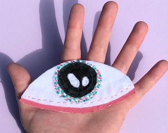 Handmade Green Eye Patch ~ Peel and Stick Patch Made From Recycled Materials