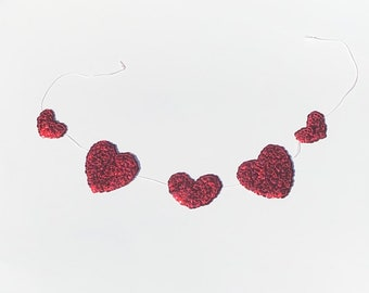 Medium Sequin Heart Banner ~ Handmade Garland