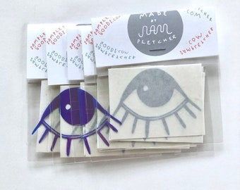Eye Vinyl Sticker Pack ~ Holographic Options!