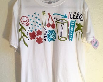 One of a Kind Youth XL T Shirt Hand Painted by Sam Pletcher