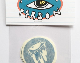 Dripping Eye Sticker Pack (Blue Vinyl Stickers, Pack of 4)