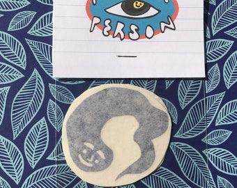 Smiling Lil Buddy ~ Pack of Two Vinyl Stickers