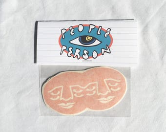 Creepy and Cute Sticker Pack ~ Pack of 2 Waterproof Orange Stickers