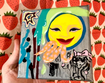 Hedonistic Me ~ Acrylic Painting on Stretched Canvas by Sam Pletcher