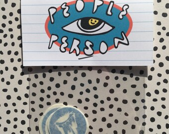 Mini Dripping Eye Sticker Pack ~  Blue Vinyl Stickers, Pack of 3  ~  Cool Vinyl Sticker Pack