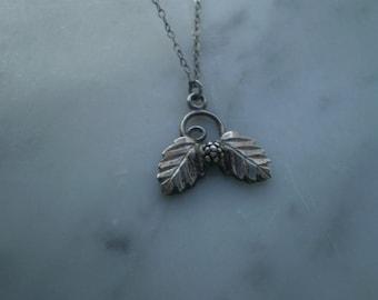 SALE--Sterling Leaf Necklace