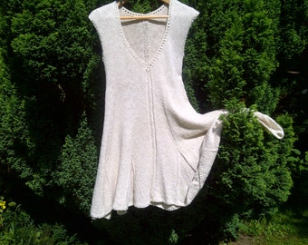 The Forester Tunic - 100% Cotton Tunic. Hand Made.  Unusual Design, with no side seams, for a flattering shape.