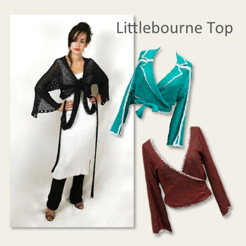 Pattern 4/Knitting machine pattern. The Littlebourne Top image 0
