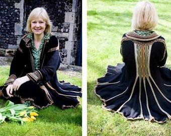Forester Jacket  - Hand Crochet detail. UK Designer. House of Lavene.