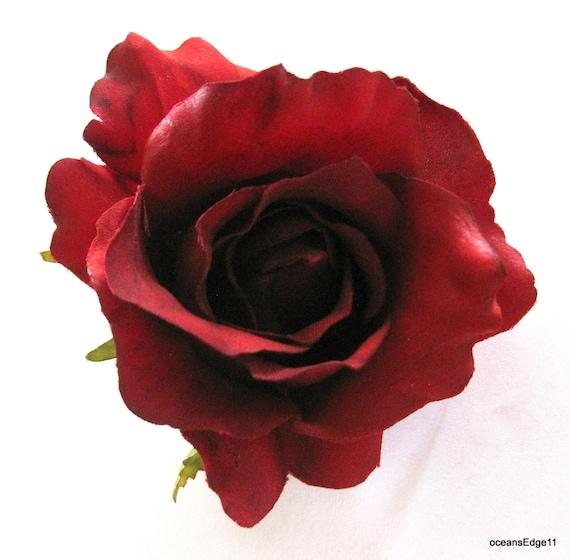 "3.5 /"" Red Lily Silk Flower Brooch Pin Hat Lapel"