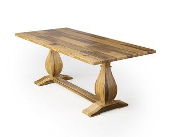 Dutch Trestle Wood Dining Table