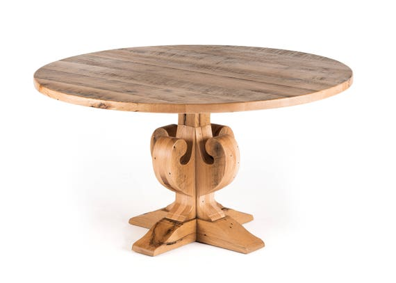Fairfield Round Wood Top Dining Table Wood Table Wood Dining Table Oak Kitchen Table Pedestal Table
