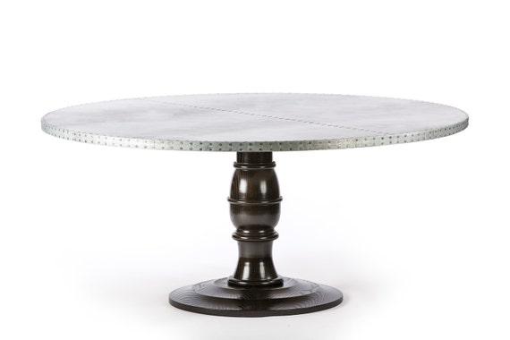 Providence Round Zinc Top Dining Table Zinc Table Zinc Etsy