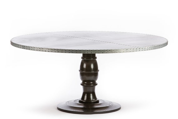 Cool Providence Round Zinc Top Dining Table Zinc Table Zinc Dining Table Round Table Pedestal Table Base Cjindustries Chair Design For Home Cjindustriesco