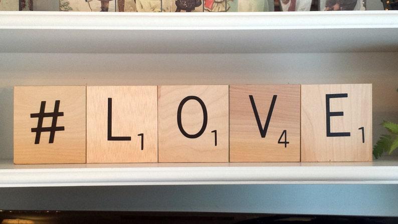 Scrabble piastrelle piastrelle grandi lettere formato jumbo etsy