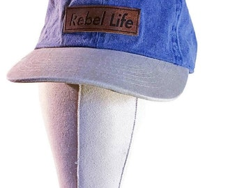 Rebel life two tone denim golf hat