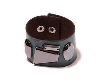 Vegan Leather cuff with embellishment