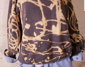 Repurposed reused tye DYE hoodie