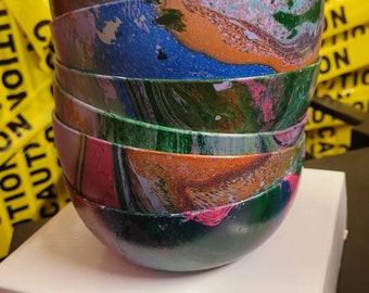 Chakra inspired art home decor bowls set of 6