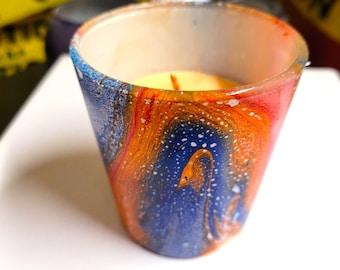 CHAKRA inspired mini espress & candle glass votive