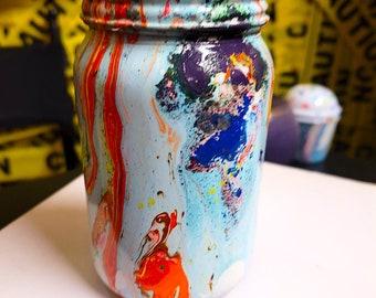 Chakra art Inspired water glass bottle