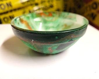 Chakra inspired glass ring/jewelry bowl