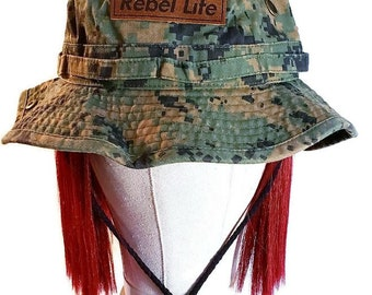 Rebel life digi cam BUCKET hat