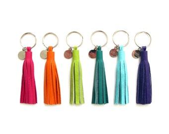 "3"" Leather Tassel Key Chain | Upcycled Leather Fringe Keychain | Zipper Pull | Tassle Bag Charm | Upcycled | Eco Friendly | Purse Tassel"