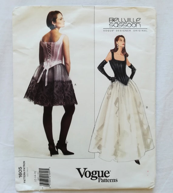fb91daa66a5 Sewing pattern Vogue Designer 1605 for corset top and flared