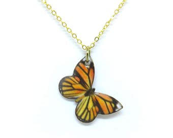 """Butterfly Gold 18"""" Necklace"""