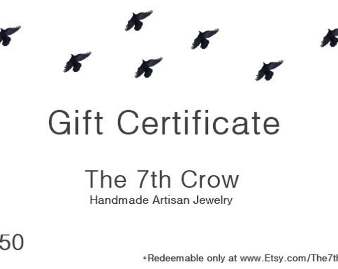 Gift Certificate - 50 dollars for 45 dollars