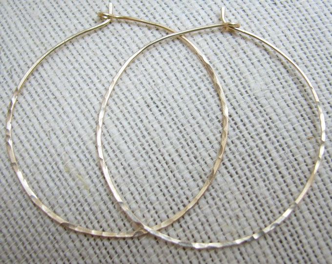 SALE: Hammered gold/silver/copper/rose gold Hoop Earrings