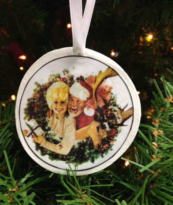 Kenny And Dolly Christmas.Dolly Parton Kenny Rogers Christmas Ornament