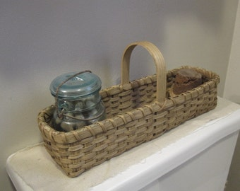 Toilet Tank Basket, Farm House Decor, Bathroom Storage, Catchall Basket, Farmhouse Chic, Desk Organizer, Cottage Chic,Rustic Home