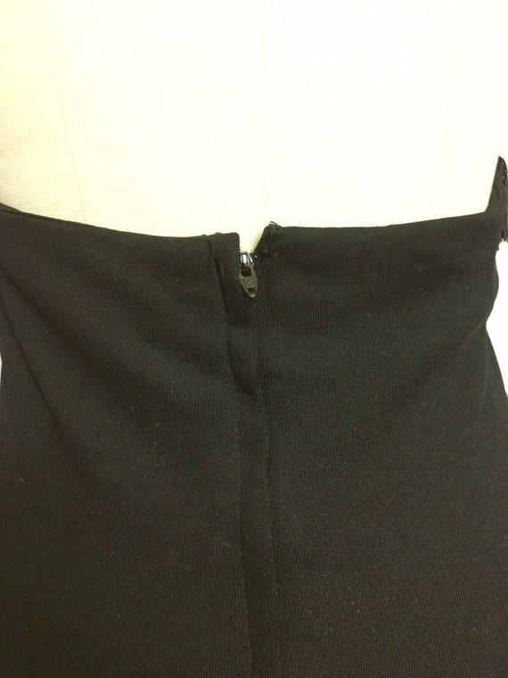 Lilli Diamond Black Fringe Maxi Dress~ 1970s 70s … - image 6