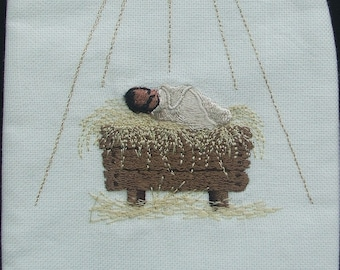 Clergy stole, Pastor's Stole, Priest Stole, vestment, White, Christmas, Nativity