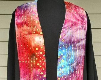 Clergy Stole, Pastor's Stole, Priest's stole, Vestments, Rainbow pattern