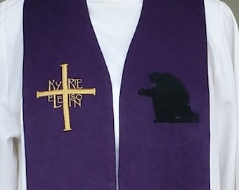 clergy stole, Priest Stole, Pastor's Stole, vestment  MADE to ORDER