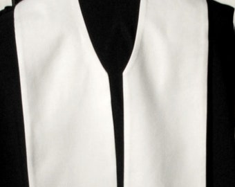 """clergy stole, vestment, plain budget stole wide width 6"""", MADE to Order"""