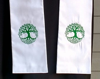 Celtic Tree of Life, Clergy Stole, Priest Stole, Pastors stole, Vestment, MADE TO ORDER