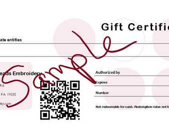 Gift Certificate, you choose amount, Clergy Stole, Vestment, Priest stole