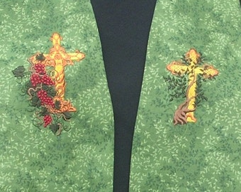 Clergy Stole, vestment, Vine and Branches story stole MADE TO ORDER