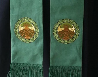 Celtic Tree of Life, Clergy Stole, Vestment, Pastor's stole, Priest Stole, MADE TO ORDER
