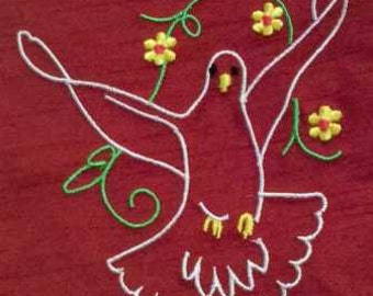 Clergy stole, vestment, Pentecost Dove , Red MADE to ORDER