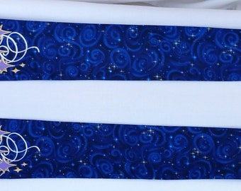 Clergy Stole, vestment, Advent Stars Blue or purple MADE TO ORDER