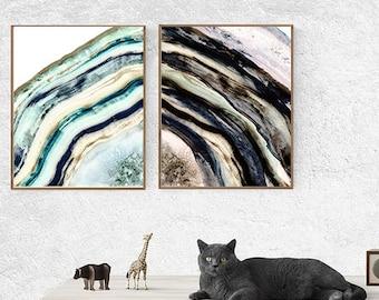 geode art, geode agate, agate art, picture sets, set of 2, art set, set of 2 prints, cabin art, cabin decor, rustic wall art, rustic decor