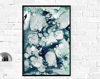 Dark Blue Waves Print, Navy Blue Wall Art, Sea Poster, abstract waves print, teal blue art, teal waves print, Surf Beach Water,Coastal Decor
