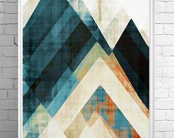 Nordic art, graphic design art, abstract geometric print, abstract wall art, mid century art, collage art, modern art, scandinavian art