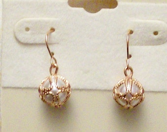 Pearl with Gold Accent Earrings