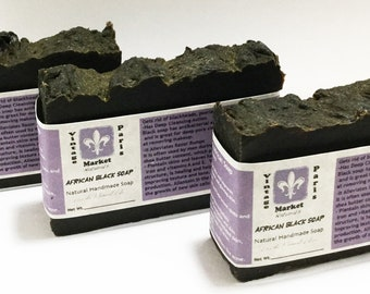 African Black Soap 100% natural, Traditionally used for eczema, acne, dark spots, dryness & sensitive skin. Unscented Black Soap, Acne Soap